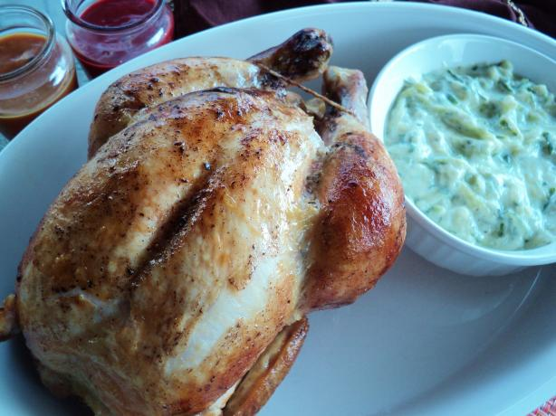 Martha's Cinnamon Broiled Chicken With Raita. Photo by Nif