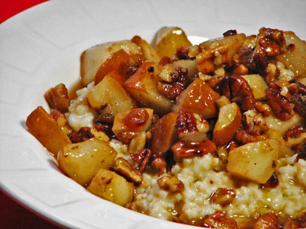 Irish Oatmeal With Pears and Maple. Photo by Kerfuffle-Upon-Wincle