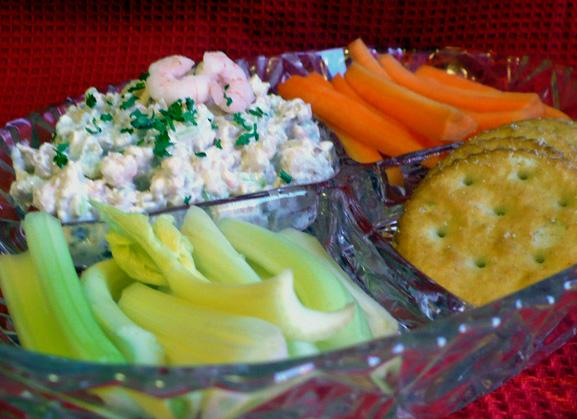 Low Calorie Seafood Dip With Walnuts. Photo by twissis