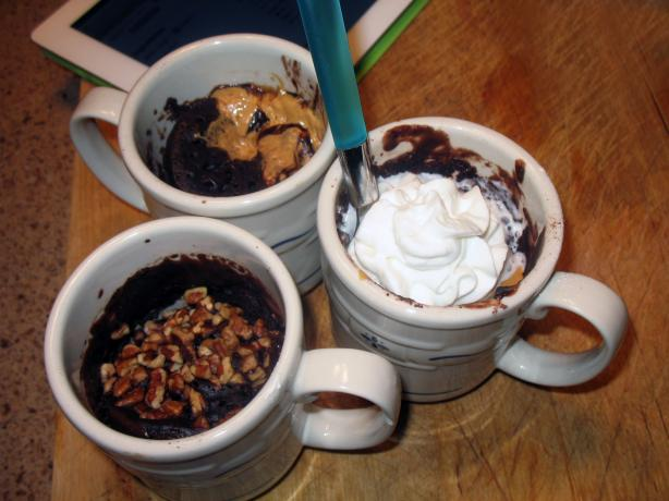 Brownie in a Mug (6 Variations). Photo by Acadia*