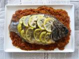 Lemon Grilled Whole Tilapia With Grilled Bell Pepper Salsa #RSC