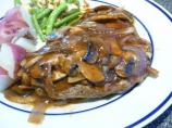 Grilled Salisbury Steaks in Savory Mushroom Gravy