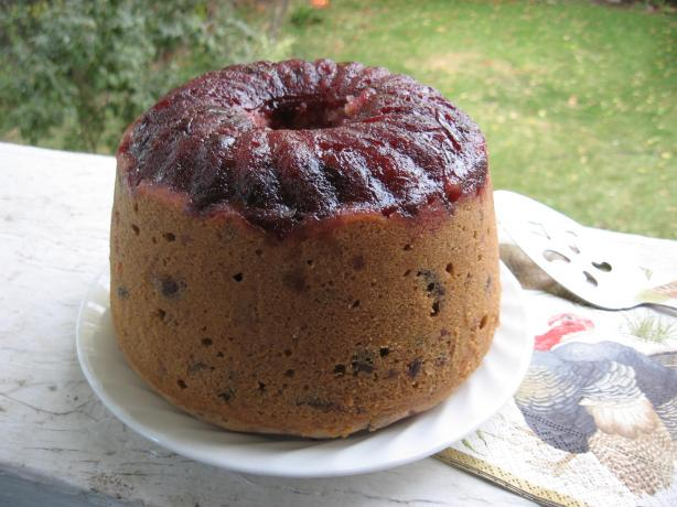 Cranberry-Cherry Steamed Pudding. Photo by Happyholiday