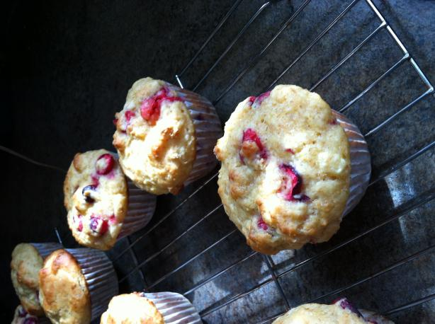 Lemon Cranberry Muffins. Photo by Veggie Girl.