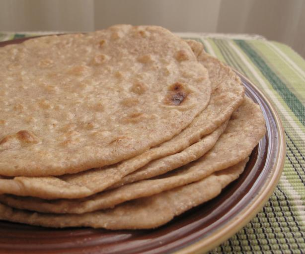 Indian Flat Bread - Chapati. Photo by Ayurveda For Life