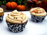 Pumpkin Cupcakes With Kahlua Cream Cheese Frosting