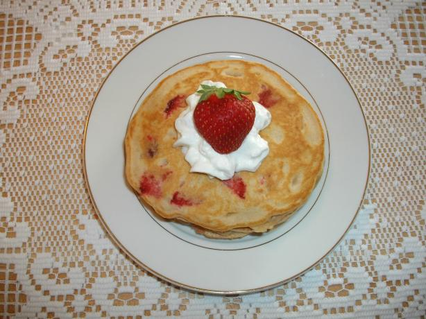 Strawberry Vanilla Pancakes. Photo by Domestic Goddess