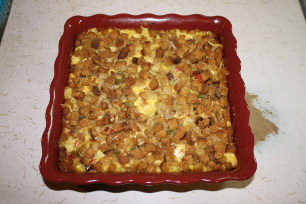 Pumpkin and Stuffing Casserole. Photo by m10419