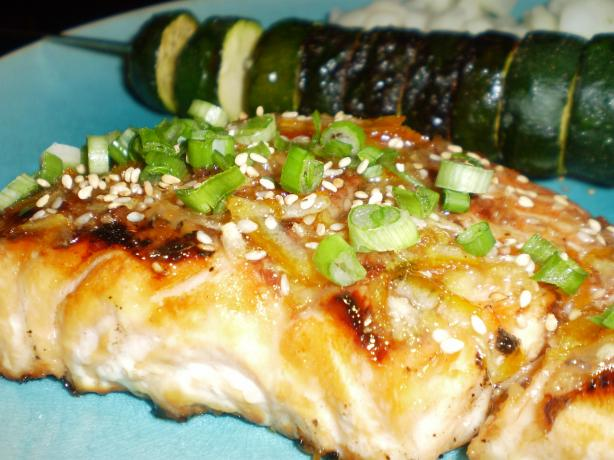 Grilled Salmon With Orange Glaze. Photo by breezermom