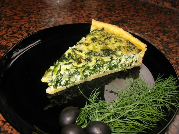 Spinach & Feta Quiche. Photo by canarygirl