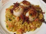 Langostino Risotto With Seared Scallops