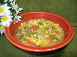 Seasoned Turkey Patty Soup
