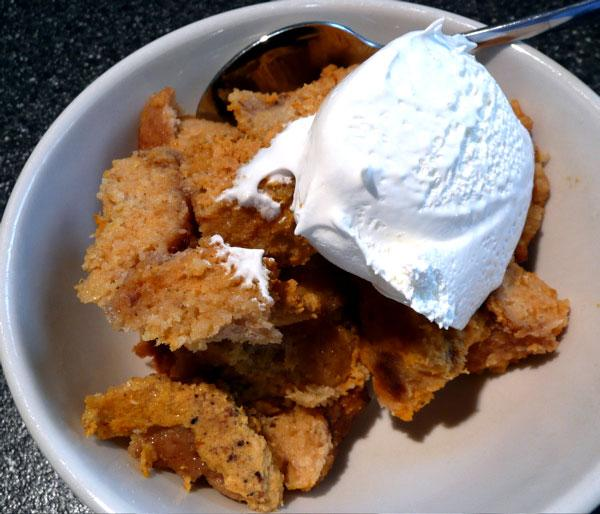 Pressure Cooker Pumpkin Bread Pudding. Photo by Mikekey