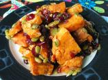 Roasted Sweet Potato Salad With Warm Chutney Dressing