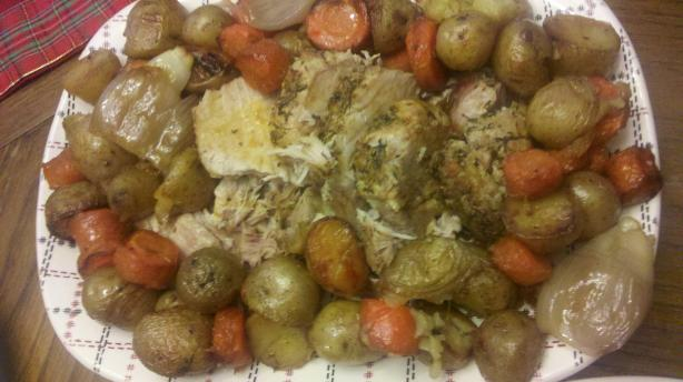 Roast Pork Loin and Potatoes. Photo by Tiggrr