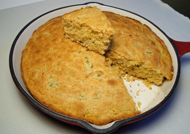 Cornbread With Jalapeno and Cheddar Cheese. Photo by Debbwl