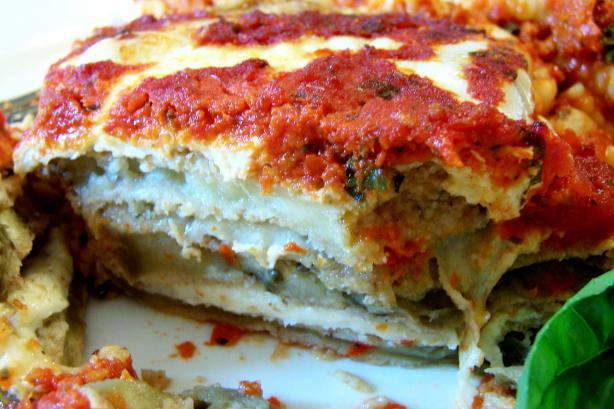 Oven Fried Eggplant or and Zucchini Parmesan. Photo by Rita~