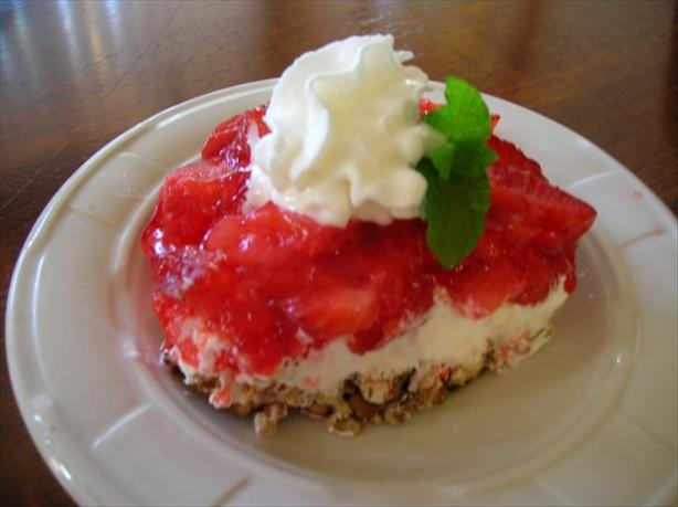 Makeover Strawberry Pretzel Dessert. Photo by Pam-I-Am