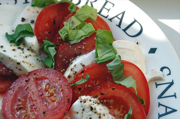 Fresh Mozzarella-Tomato-Basil Salad. Photo by -Sylvie-