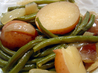New Potatoes, Green Beans and Ham
