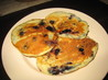 Blueberry Banana Happy Face Pancakes