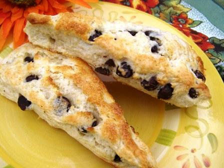 Chocolate Chip Scones. Photo by DuChick