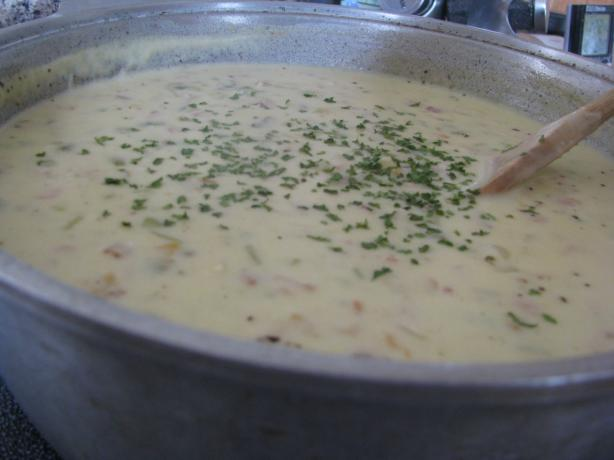 Thick and Creamy New England Clam Chowder. Photo by Bonnie Young