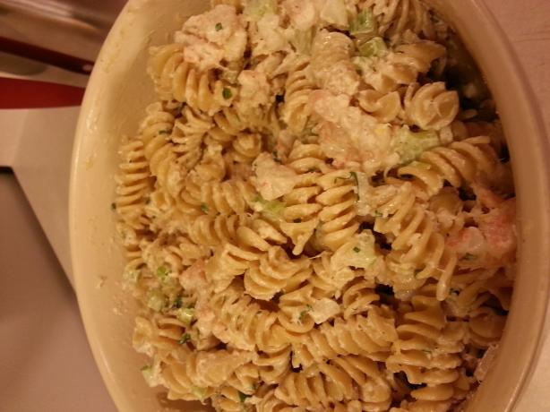 Linda's Seafood Pasta Salad. Photo by aHardDaysNight