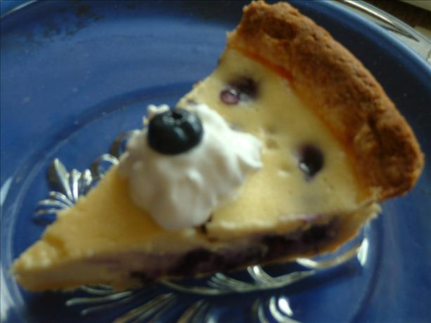 Blueberry Goat Cheese Tart. Photo by Aunt Cookie