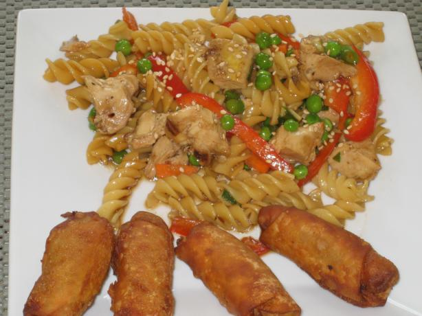 Chilled Oriental Chicken Pasta Salad. Photo by FrenchBunny