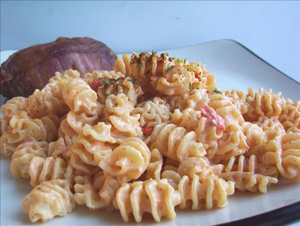Pasta with Creamy Red Roasted Pepper Sauce. Photo by * Pamela *