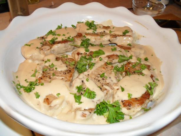 Braised Pork Chops in Sour Cream Sauce. Photo by vivmom