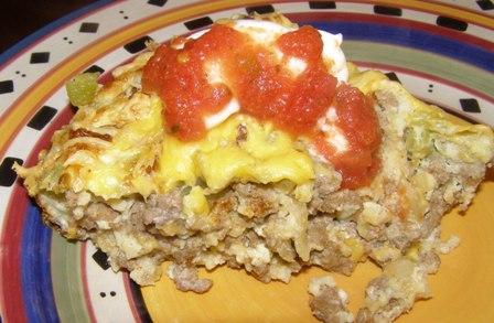 Impossibly Easy Taco Pie. Photo by DuChick