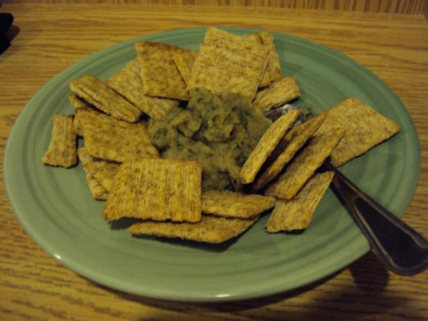 Roasted Eggplant, Onion and Garlic Dip or Spread. Photo by angieconway