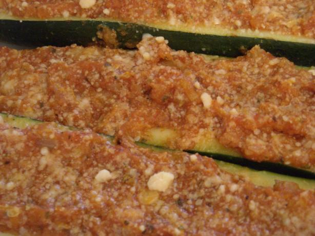 Easy Stuffed Garden Zucchini. Photo by mums the word