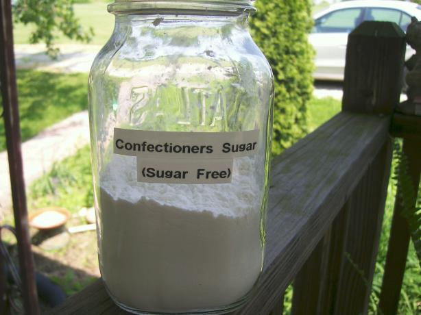 Confectioners Sugar Replacement for Diabetics (Sugar Free). Photo by Crafty Lady 13