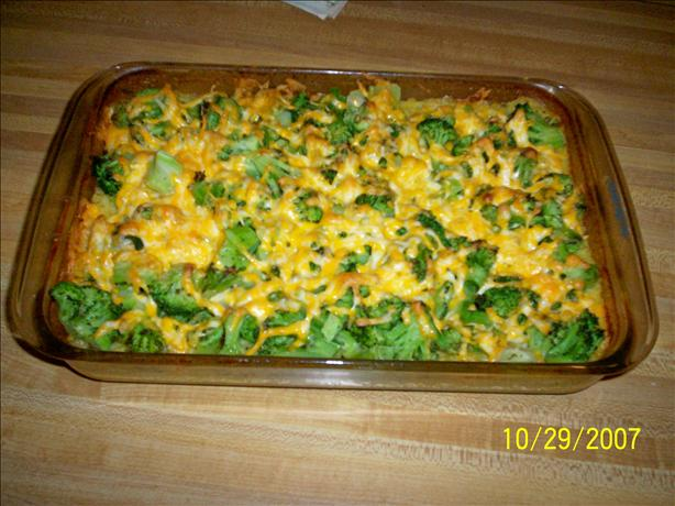 Too Easy Cheesy Chicken, Broccoli and Rice Casserole. Photo by COOT226