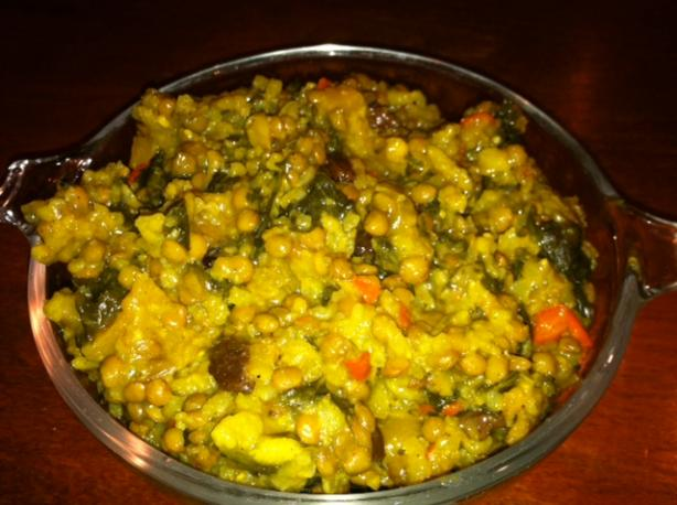 Curried Lentils and Rice. Photo by Chef C.S.