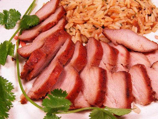 Barbecued Red Roast Pork Tenderloin. Photo by Lavender Lynn