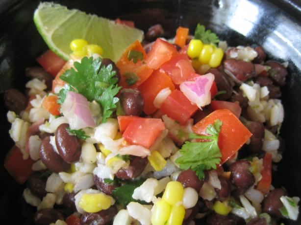 Baja Black Beans, Corn and Rice. Photo by Cookin'Diva