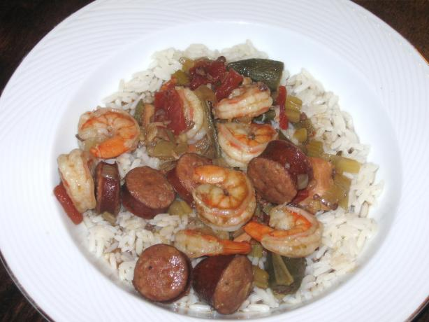 Crock Pot Chicken and Sausage Gumbo With Shrimp. Photo by mary winecoff