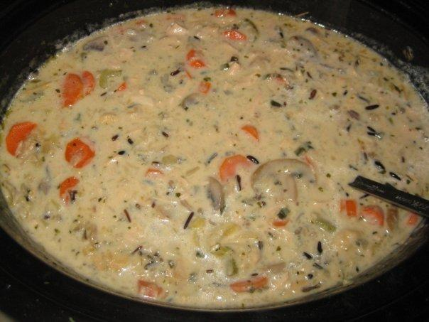 Creamy Wild-Rice Soup With Smoked Turkey. Photo by Venus1978