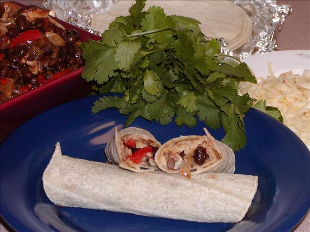 Mushroom and Black Bean Burritos. Photo by Rita~
