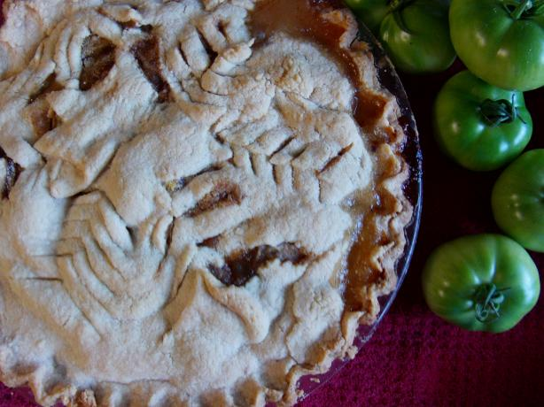 Green Tomato Pie. Photo by Mrs.farmerbrown