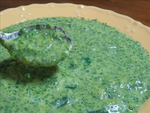 Sweet Spinach Potato Soup. Photo by *Parsley*