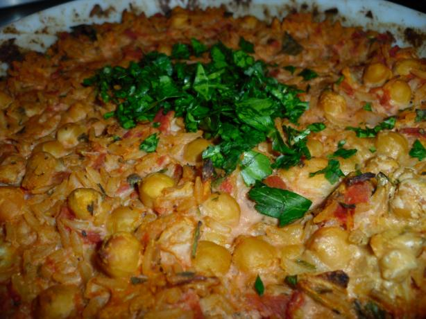 Creamy Chickpea and Tahini Casserole. Photo by tamalita62