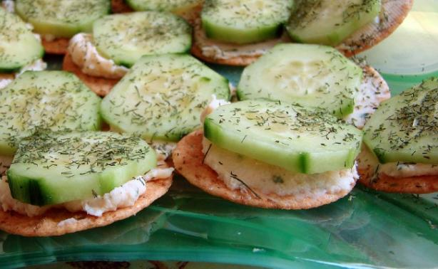 Cucumber and Cream Cheese Appetizers. Photo by Derf