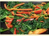 Garlic Spinach & Bell Peppers
