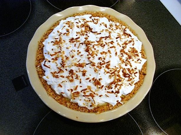 Pineapple Coconut Cream Pie in Coconut Cookie Crust. Photo by KingJackQueen