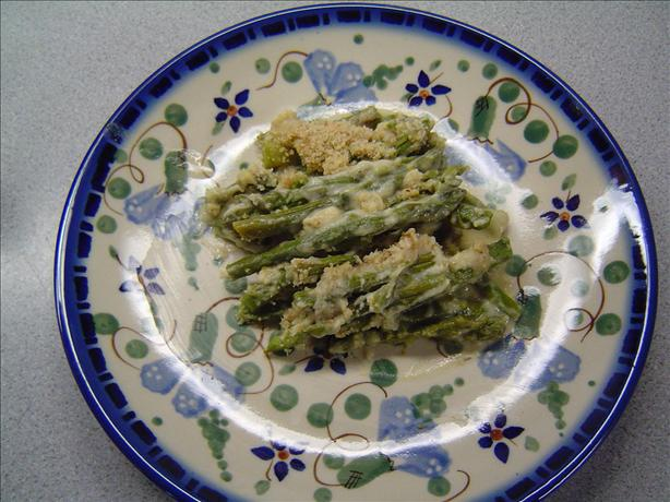 Scalloped Asparagus Casserole. Photo by TNlady